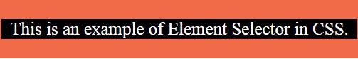 element selector