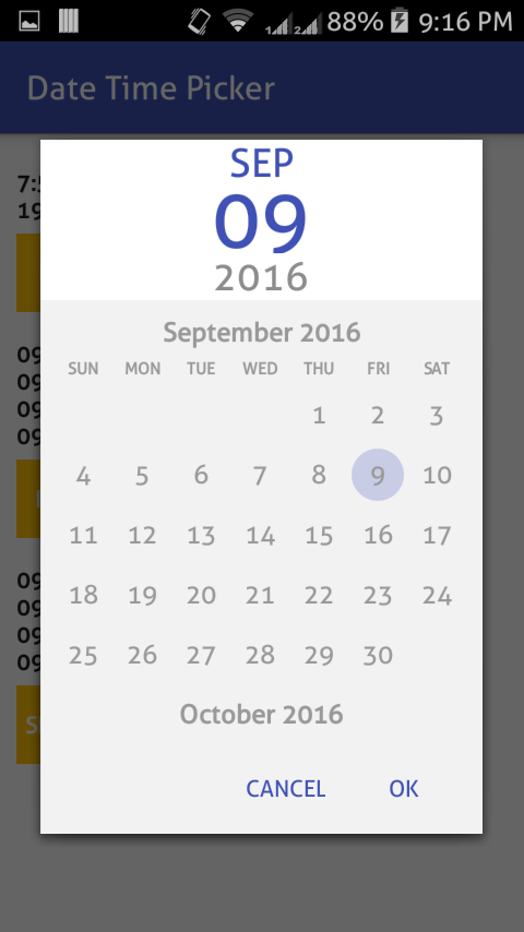 Xamarin Datetime Picker