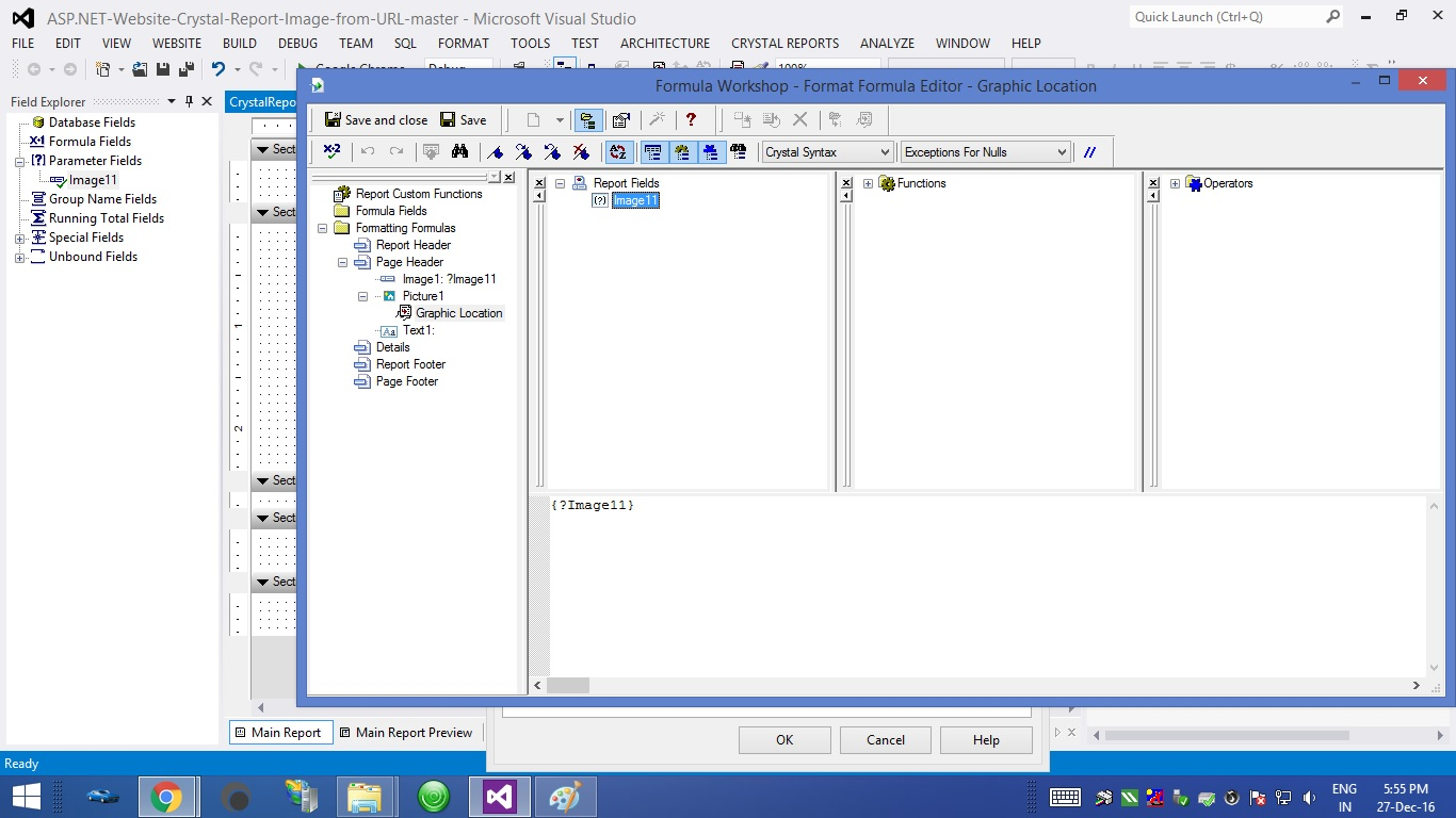 C# Windows Form Application Crystal Report Image from URL and Path 10