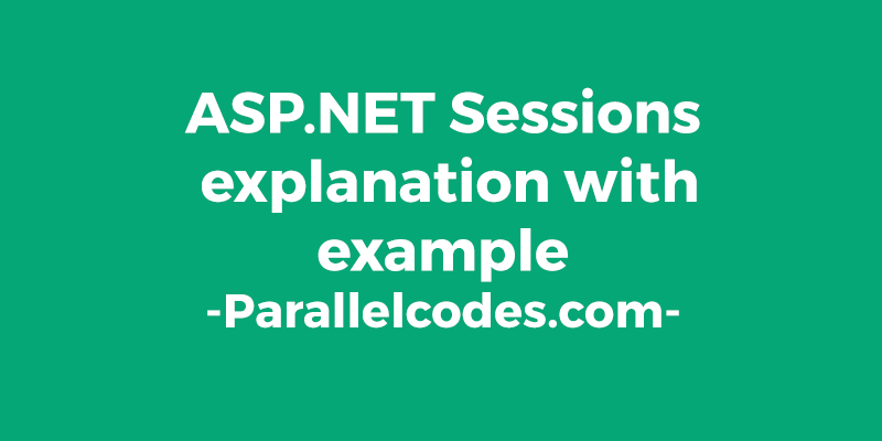ASP.NET Creating and Retrieving Sessions example 022