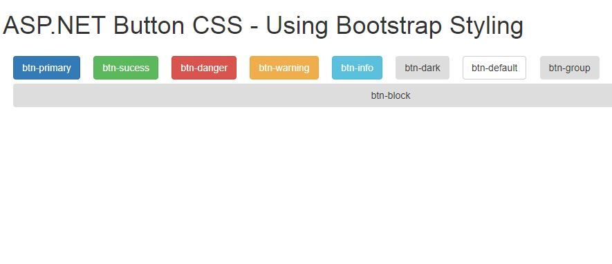 ASP-NET Button CSS Bootstrap Style - Output 01