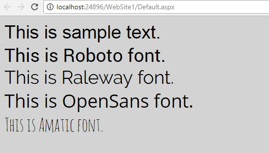 ASP.NET Custom Fonts using CSS 02