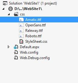 ASP.NET Custom Fonts using CSS 01
