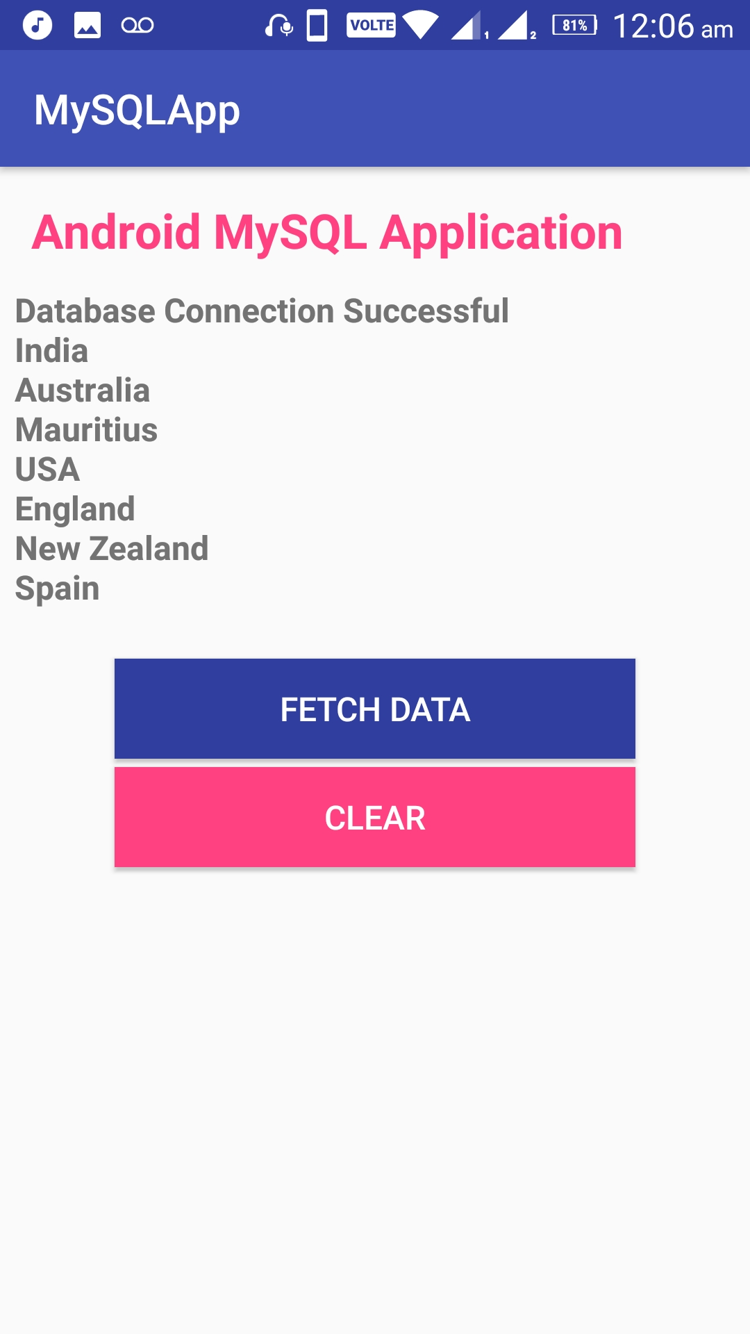 Android Connect MySQL Database 02