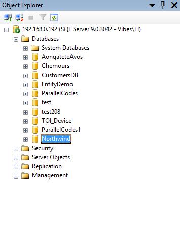 Northwind Veritabanını SQL Management Studio finaline yükleyin ve ekleyin