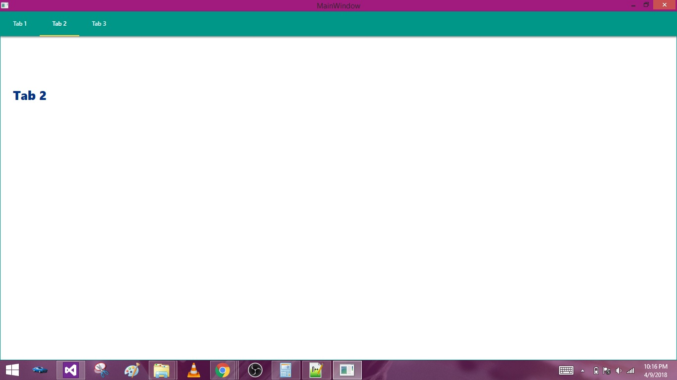WPF Designing Material Design Tabs with Dragablz 04