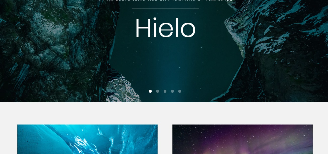 free css templates download hielo theme