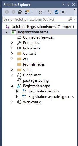 registration page folder info