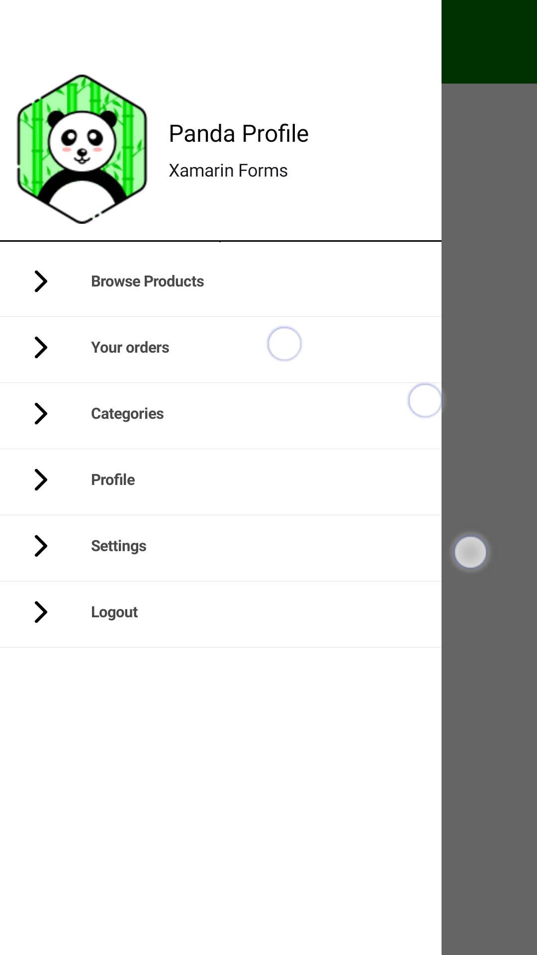 xamarin forms masterdetail page navigation drawer 01