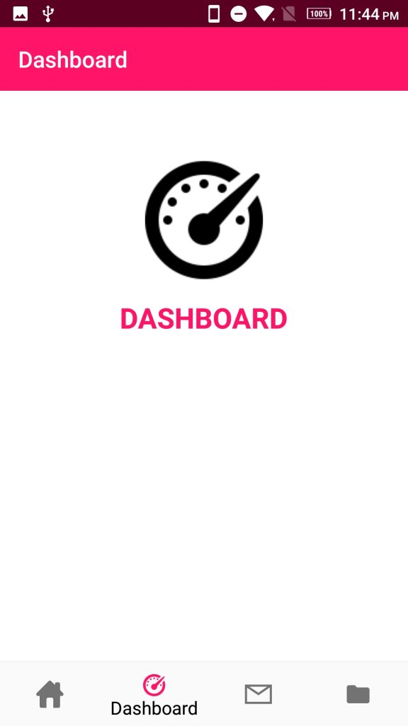 Android bottom navigation bar Dashboard Fragment