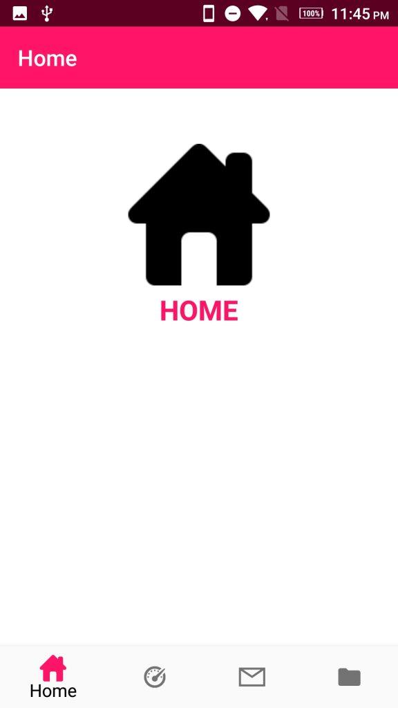 Android bottom navigation bar Home Fragment