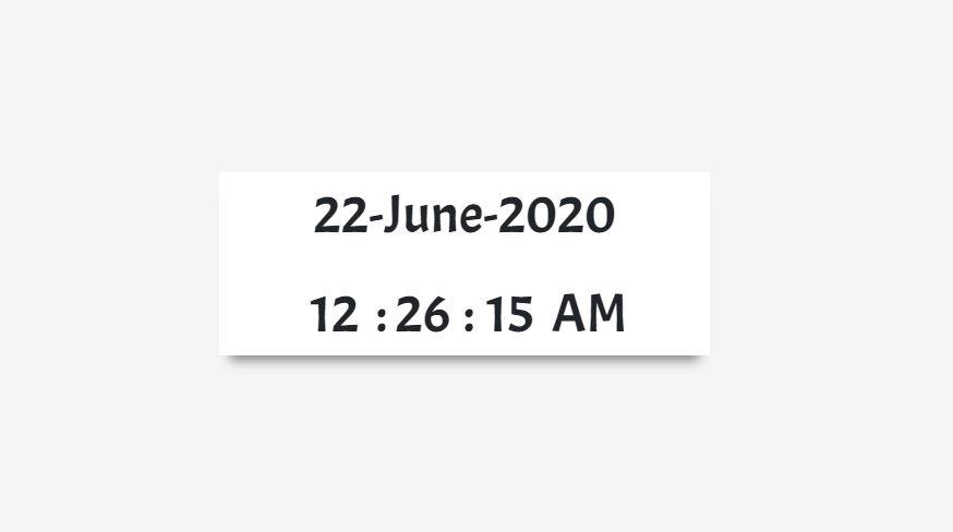 Javascript Create Digital Clock