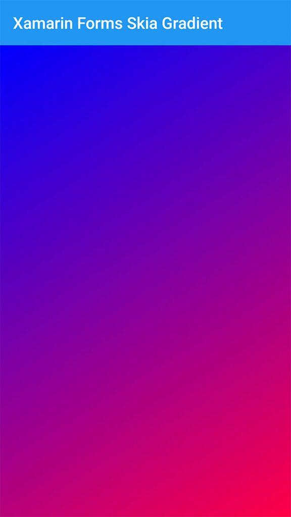 Xamarin Forms SkiaSharp Gradient Background