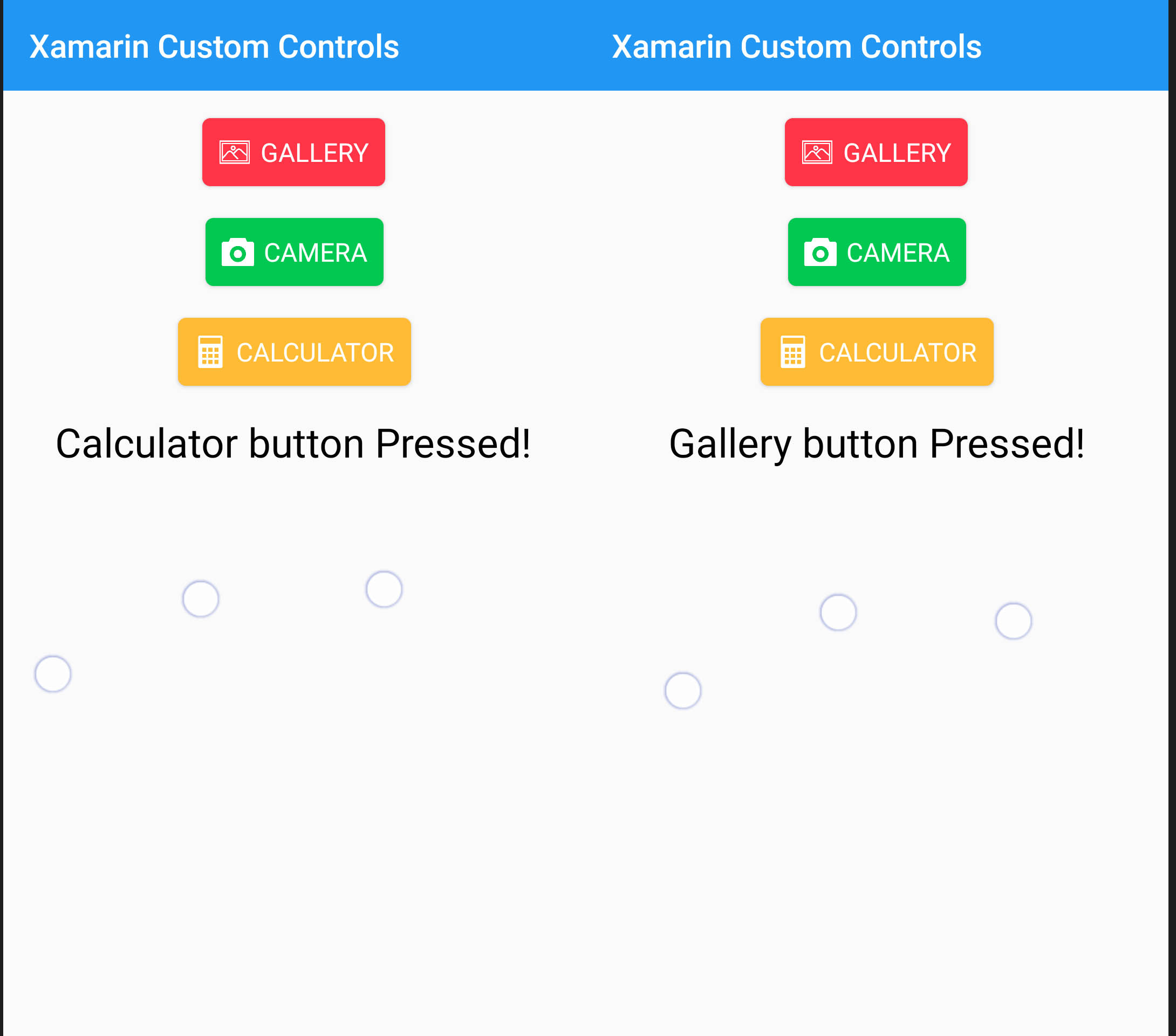 Xamarin Forms Custom Controls Custom Button with Icons