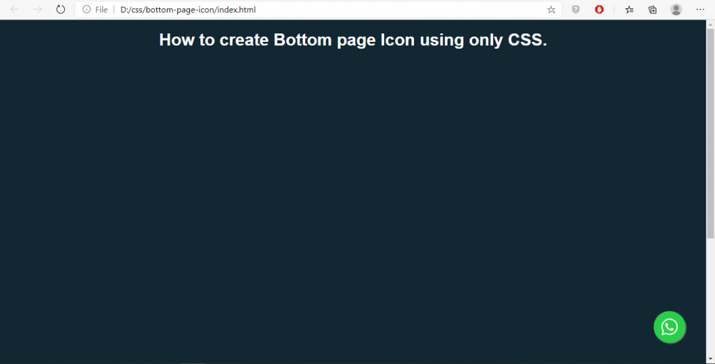 css-bottom-page-icon-circle-button-sample