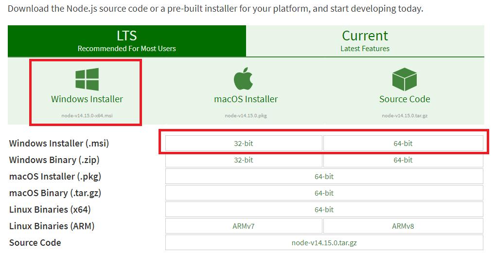 node-js-windows-install-setup-installer
