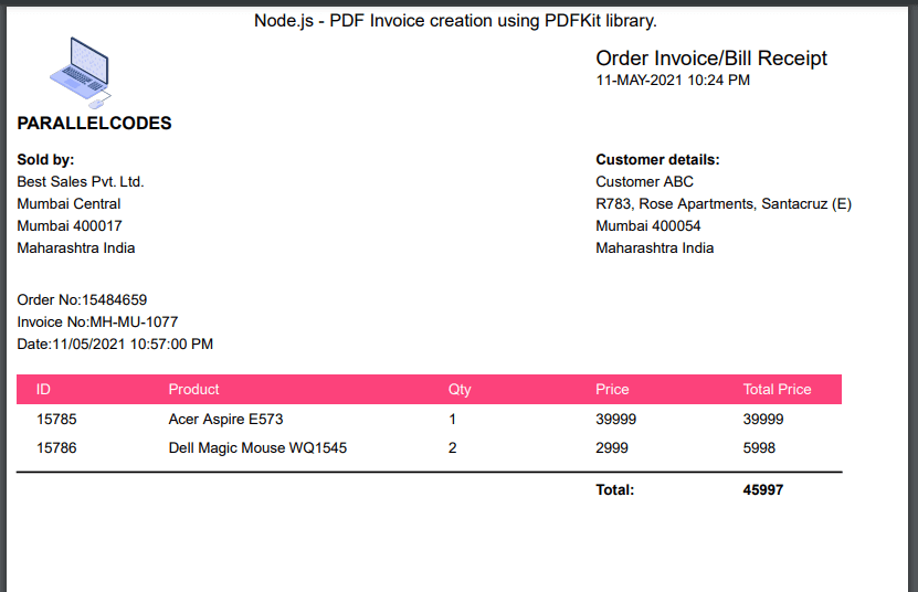 node-js-pdf-invoice-sample